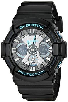 Men's Wrist Watches - Casio Mens GA201BA1ACR G Shock AnalogDigital Display Quartz Black Watch ** Continue to the product at the image link.