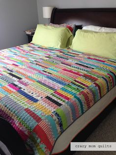 This is such a simple way to make a wonderful quilt while using up all those leftover strips.