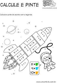 ATIVIDADES EDUCATIVAS: Fevereiro 2017 Math For Kids, Lessons For Kids, Preschool Kindergarten, Teaching Math, Math Games, Math Activities, Math Sheets, 1st Grade Math Worksheets, Math Numbers