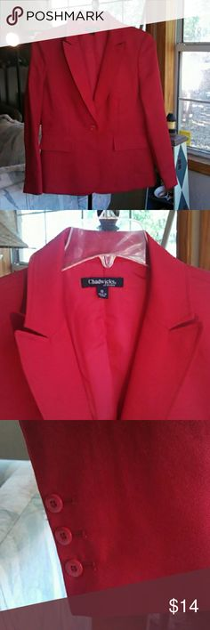 Chadwick's Red Blazer/Suit Jacket CLOSET CLEAR OUT!!!!  Bundle and save save save. EUC Red Blazer/Suit Jacket Chadwicks Jackets & Coats Blazers