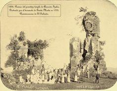 "Ruinas de la Iglesia de Asuncion de Izalco,  1893, Imagen del lbro ""Salvador"" de Marie Robinson,  Church Ruins of Izalco, Salvador (Ruinas de la iglesia de Izalco, Salvador)"