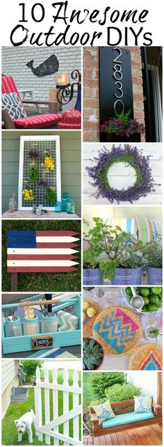 10 Awesome Outdoor DIY Projects | Roundup via TheTurquoiseHome.com