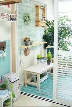 Small veranda Outdoor Ideas, Outdoor Decor, Outdoor Furniture Sets, Porch, Projects To Try, Patio, Pallet Ideas, Balcony, Interior
