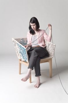 Die entdeckung der langsamkeit - embroider your chair to make it more unique and comfortable, by Susanne Westphal