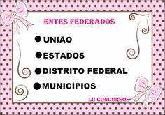 Lu Concursos: ENTES FEDERADOS