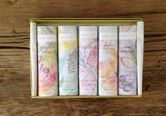 Edible Flower Chocolate Bars handmade from Mali B Sweets: Lavender-Mango, Violet-Marzipan, Hibiscus-Raspberry, Rose-Pomegranate, and more.