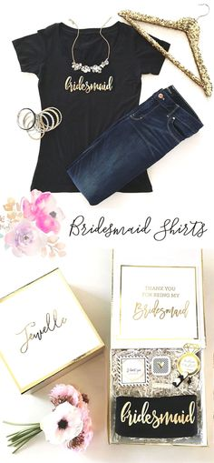 Bridal Party Shirts make a fun and stylish bridesmaid gift to give the girls before a party weekend so the squad can travel in style! Each soft cotton jersey has a scoop neck with…More Wedding Party Shirts, Bridal Party Shirts, Bachelorette Party Gifts, Bachelorette Weekend, Bachelorette Outfits, Party Wedding, Best Bridesmaid Gifts, Bridesmaid Shirts, Bridesmaids And Groomsmen