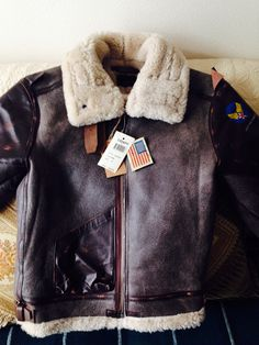 Vintage American sheepskin flight jacket
