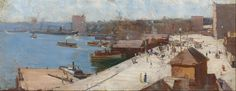 Circular Quay by Arthur STREETON. 1892