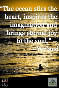 """[Wandering Wisdom Wednesday] """"The Ocean Stirs the Heart, Inspires the Imagination and Brings Eternal Joy to the Soul"""" - Wyland 