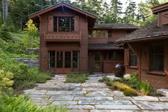 CURB APPEAL – another great example of beautiful design. Le Petit Chalet with rustic landscape in boston by Matthew Cunningham Landscape Design LLC.