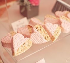 heart rice crispy treats - for valentines day