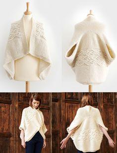 Ravelry: Maku Wrap Cardi pattern by Kyoko Nakayoshi...love the cable panel