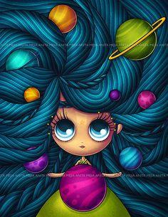 Painting & Co - Anita Mejia Disney Drawings, Cute Drawings, Sketch Note, Dibujos Cute, Zodiac Art, Dream Art, Wallpaper Iphone Cute, Whimsical Art, Cute Illustration