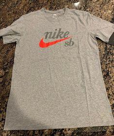 bca3423c Nike SB Logo T Shirt Size Medium Gray BQ3264 063 Skateboard Icon #Grays  #GraphicTee. Swoosh Supply · Men's Apparel