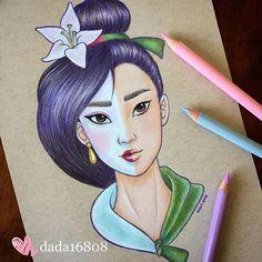 Disney Drawing Mulan [also as Ping] (Drawing by Disney Drawings Sketches, Cute Disney Drawings, Cool Art Drawings, Realistic Drawings, Cartoon Drawings, Drawing Sketches, Pencil Drawings, Disney Kunst, Disney Art