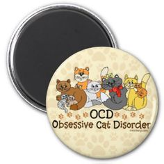 10 colorful cats in different colors. Funny cat spoof / parody to obsessive compulsive disorder. For cat lovers and even hoarders. Do they call you the crazy cat lady? Or know anyone who is or could be? #ocd #obsessive #cat #disorder #, #obsessive #compulsive #disorder #spoof #, #ocd #parody #, #crazy #cat #lady #, #cat #lovers #, #funny #cat #saying #, #funny #cat #quote #, #funny #cat #one #liner #, #cute #cat #graphic #, #kitty #cat #slogan
