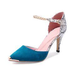 65c837a0 Mujer Zapatos PU Primavera Otoño Confort Innovador Tacones Tacón Stiletto  Dedo Puntiagudo Hebilla para Boda Fiesta y Noche Negro Rojo Azul