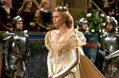 """Charlize Theron as Ravenna in """"Snow White and the Huntsman"""" in a costume designed by Colleen Atwood."""