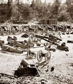 Here for your perusal is a collectible photograph of Broadway Landing, Appomattox River, Virginia. Park of artillery. It was created in 1865.    The photograph illustrates United States weapons in Civil War.
