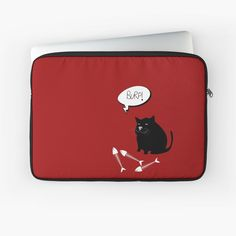 -  Zipped laptop sleeve.   -  Foam padding and polyester cover protects from scratches and minor impacts.   -  High quality print on front, with black back.   -  Black edging, black zip, and black plush padding inside.   Easy clean with a damp cloth.   . . #zippedlaptopsleeve  #laptopsleeve  #laptopcover  #laptopprotection  #bitsofeverywhere  #blackcat  #burpingcat