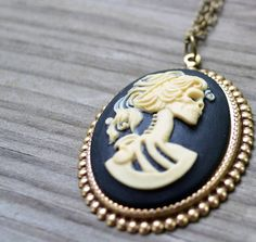 Lolita Skull Cameo Necklace  Esty