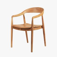 Our mid century inspired Ingrid Teak Arm Chair from Selamat Designs is constructed from salvaged teak with varied grain and color. The Ingrid teak arm chair also makes a chic dining chair or desk chair for your home office.