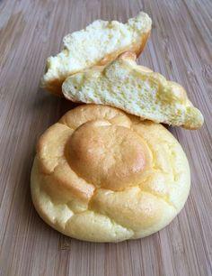 Cloud bread! No flour, what? Just eggs, cream cheese, cream of tartar and sugar or honey.