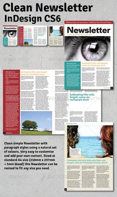Clean Newsletter - InDesign - Newsletters Print Templates Download here : https://graphicriver.net/item/clean-newsletter-indesign/3318965?s_rank=366&ref=Al-fatih