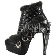 STEAMPUNK HEELS. | Medieval Footwear → Women's Boots & Shoes → Agnes Steampunk Heels