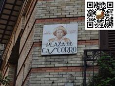 Plaza de Cascorro de la Ciudad de Madrid en España