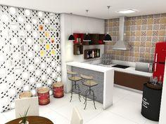 Bar/Bistrô Condomínio Residencial  Fortaleza -Ce Projeto Auri Deusdará Interiores