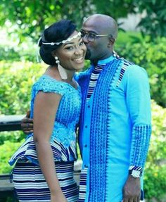 Kente Styles Slay For this year – Reny styles at Diyanu Couples African Outfits, African Fashion Ankara, African Inspired Fashion, Latest African Fashion Dresses, African Dresses For Women, African Print Fashion, Africa Fashion, African Women, Ghana Fashion
