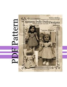 PDF PATTERN 1930s Frock An Original by KeepersDollyDuds on Etsy, $9.95
