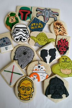 Check out this item in my Etsy shop https://www.etsy.com/listing/249435715/star-wars-cookiessugar-cookies-royal