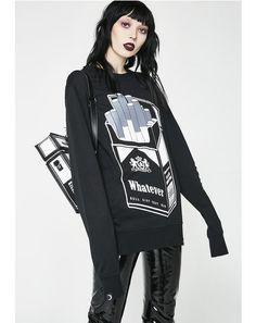 Black Menthol Sweatshirt #dollskill #killstar #newarrivals #black #punk #goth #punkrave #gothgirl