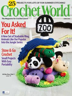 Crochet World Stackable Ring Zoo Crochet Pattern - Amigurumi Crochet World, Crochet Books, Crochet Gifts, Crochet Baby, Free Crochet, Crochet Patterns For Beginners, Easy Crochet Patterns, Amigurumi Patterns, Crochet Designs