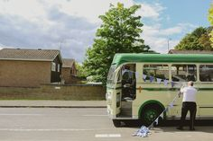 Olivier Burnside Fine Art Reportage Wedding Photographer. Wedding Bus for Guests