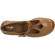 7e53e96e0 Clarks Women s Tustin Talent Leather Mary Jane Flats - Dark Tan Womens  Accessories