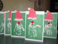 Santa handprint cards