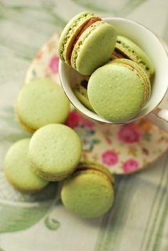 green tea macarons by fbenneig, via Flickr