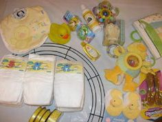 Create a Diaper Wreath for the Mother-to-Be: Step 1 - Gather Your Supplies