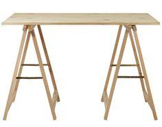 bricolage un bureau avec une planche et 2 tr teaux bureaux simple et bricolage. Black Bedroom Furniture Sets. Home Design Ideas