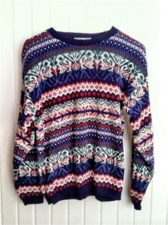 Bill Cosby style sweater. $28.00, via Etsy.