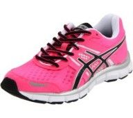 ASICS Women's Running Shoe « Shoe Adds for your Closet -- need a summer running shoe! Pink Shoes, New Shoes, Pink Sneakers, Nike Womens Athletic Shoes, Neon Running Shoes, Workout Shoes, Workout Gear, Workouts, Asics Shoes