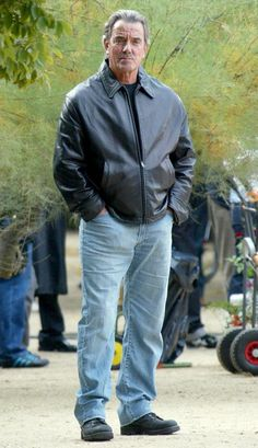 Actor Eric Braeden seen filming a scene on the set of 'The Young And The Restless' in Paris, France.