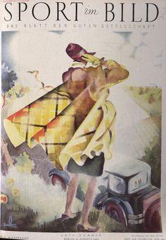 August 1927 cover of Sport im Bild magazine.