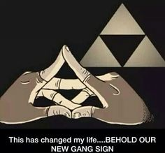 Official Zelda fans gang sign ▲ East Hyrule Field side