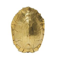 Cast Aluminum Turtle Shell in Gold - Image 1 of 3 Decorative Objects, Decorative Bowls, Sea Turtle Shell, Wood Turtle, Turtle Figurines, White Orchids, Gold Texture, Pictures To Paint, Accent Decor