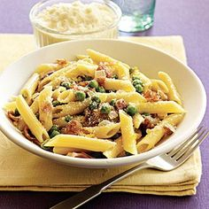 Easy Pasta Recipe: Penne with Sweet Peas and Prosciutto